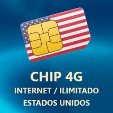Chip Internet 4G/Lte Ilimitado Estados Unidos - T Mobile